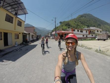 Biking through the Waterfall Route